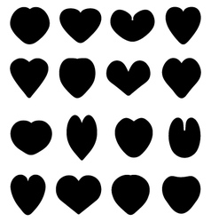 Silhouettes of heart vector
