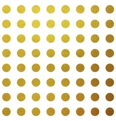 Gold glitter circles pattern design vector