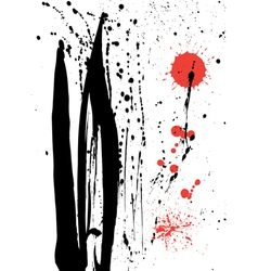 Ink and blood splashes vector