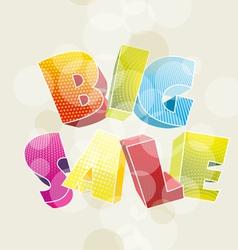 3d BIG SALE vector image