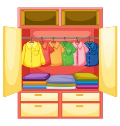 Empty wardrobe vector