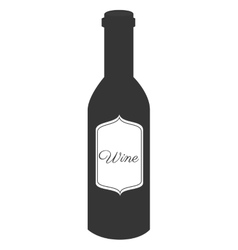 Wine glass bottle icon vector