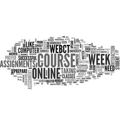 A week in the life of an online student text word vector