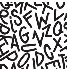 Art Seamless Pattern Font vector image