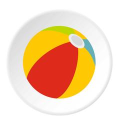 Beach ball icon circle vector