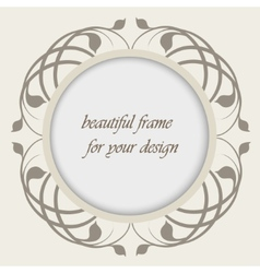 beautiful frame for your design vector image vector image