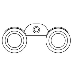 Binoculars the black color icon vector