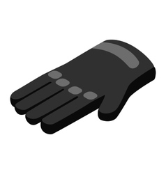 Black gloves 3d isometric icon vector image vector image
