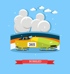 bobsled concept in flat style vector image vector image