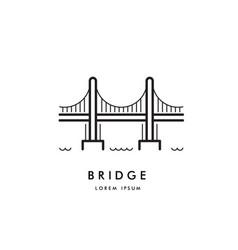 bridge outline logo vector image