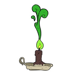 comic cartoon spooky candlestick vector image