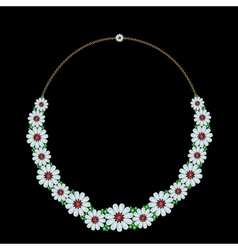Diamond necklace vector image