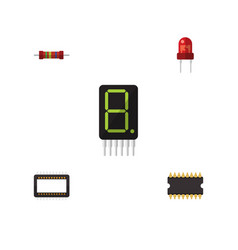 Flat electronics set of display resistance vector