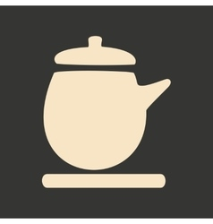 Flat in black and white mobile application kettle vector