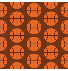 Flat Seamless Sport and Activity Basketball vector image vector image