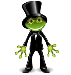 Frog in a top hat vector image