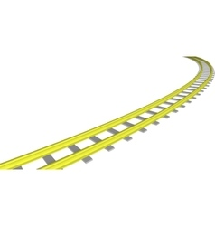 image Yellow railway on white vector image vector image