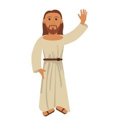 jesus christ religion catholic image vector image