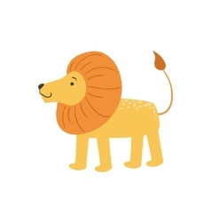 Lion Stylized Childish Drawing vector image