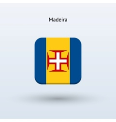 Madeira flag icon vector