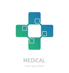 Medical logotype design element or icon for the vector