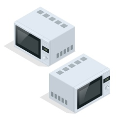Microwave oven isolated Kitchen appliances for vector image vector image