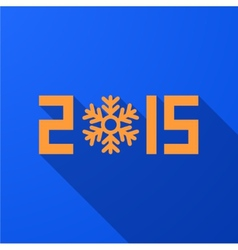 modern new year 2015 background vector image