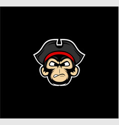 Monkey pirates mascot vector