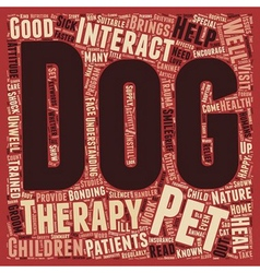 Pets Help Heal text background wordcloud concept vector image vector image
