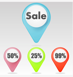 red sale icon vector image vector image