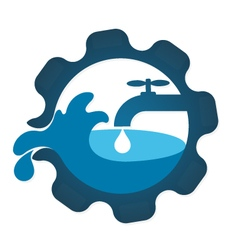 Repair plumbing business vector image vector image