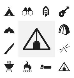 Set of 12 editable trip icons includes symbols vector