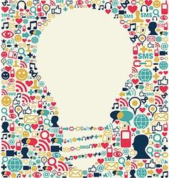 Social media idea texture vector