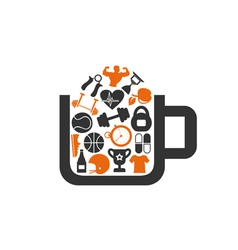 Sports a cup vector