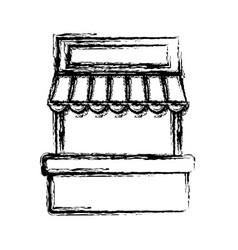 Store kiosk icon image vector