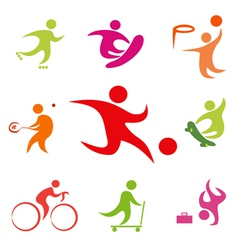 street sport icons collection vector image vector image