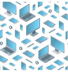 technology devices seamless pattern background vector image vector image