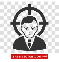 Victim businessman eps icon vector