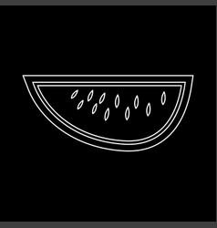 Watermelon white color path icon vector