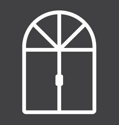 window line icon furniture and interior vector image