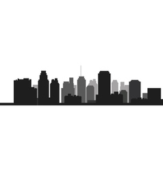 City skyline icon vector