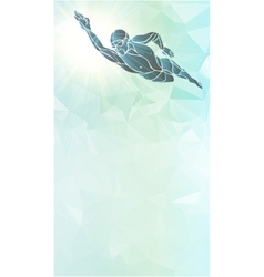 Freestyle Swimmer Silhouette Sport swimming vector image