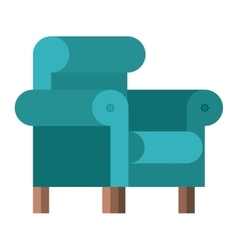 Isolated comfortable chair design vector