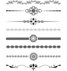 Decorative dividers vector