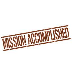 Mission accomplished stamp vector