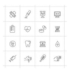 Medicine icons vector