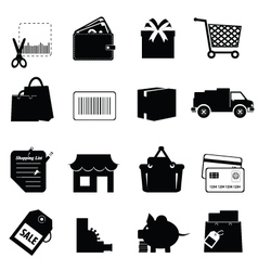 Shopping collection vector