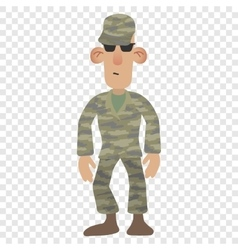 Cartoon soldier man vector image
