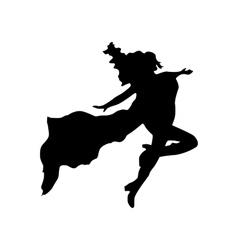 Superhero woman silhouette vector