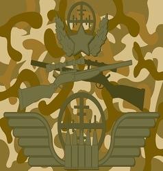 Military logo sniper vector